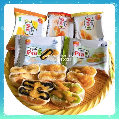 [TỰ CHỌN VỊ] Bánh Pía Kim Sa, Chay Mini, Bánh Bía Tân Huê Viên