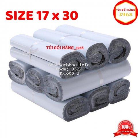 Túi gói hàng [FREESHIP] Túi gói hàng niêm phong cao cấp size 17 x 30 màu trắng sứ