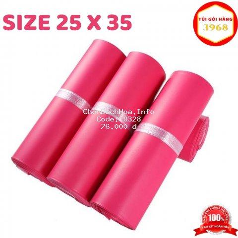 Túi gói hàng [FREESHIP] Túi gói hàng niêm phong cao cấp size 25 x 35 màu hồng rose