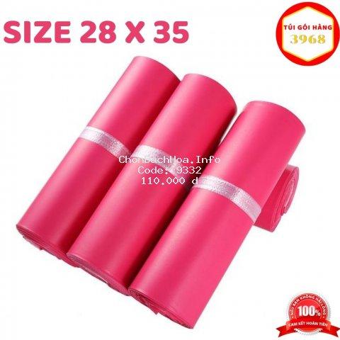 Túi gói hàng [FREESHIP] Túi gói hàng niêm phong cao cấp size 28 x 35 màu hồng rose