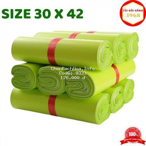 Túi gói hàng [FREESHIP] Túi gói hàng niêm phong cao cấp size 30 X 42 màu xanh lá cây