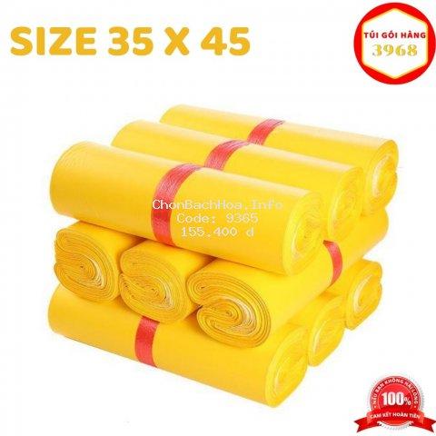 Túi gói hàng [FREESHIP] Túi gói hàng niêm phong cao cấp size 35 X 45 màu vàng