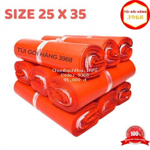 Túi gói hàng [FREESHIP] Túi gói hàng niêm phong cao cấp size 25 x 35 màu đỏ tươi