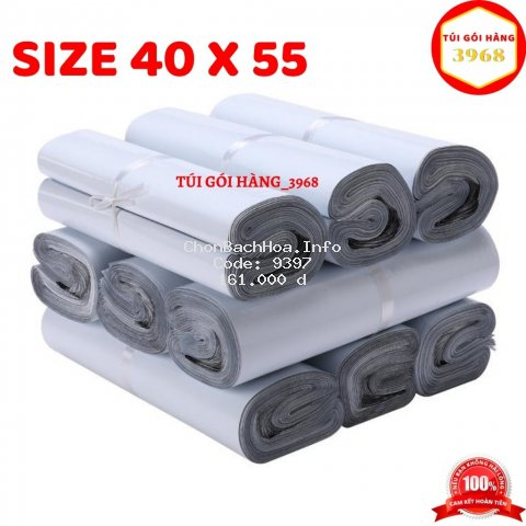 Túi gói hàng [FREESHIP] Túi gói hàng niêm phong cao cấp size 40 x 55 màu trắng sứ