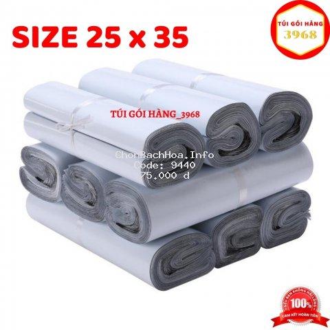 Túi gói hàng [FREESHIP] Túi gói hàng niêm phong cao cấp size 25 x 35 màu trắng sứ