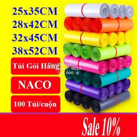 Túi Gói Hàng Niêm Phong Sản Phẩm Chuyển Phát Nhanh - NACO - Size Nhiều Màu - C26