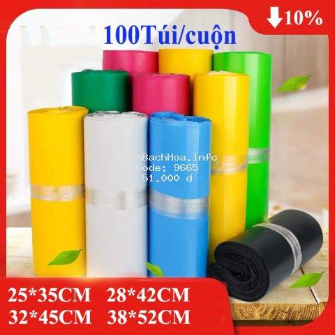 Túi Niêm Phong Đóng Gói Hàng Niêm Phong Sản Phẩm Chuyển Phát Nhanh COD - NACO - Size Nhiều Màu - B7