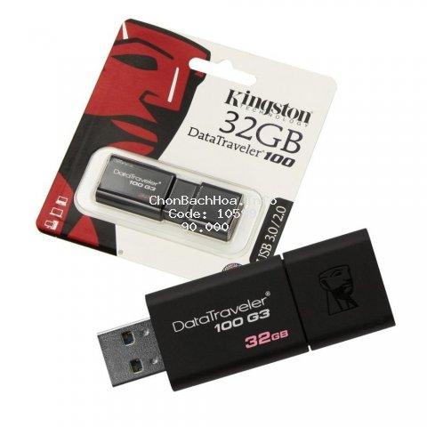 USB Kingston DT100G3 32GB 3.0-Bảo hành 60 T