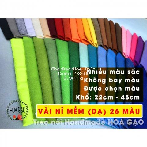 Vải nỉ mềm, vải dạ HGM22 khổ 22cm, 45cm may treo nôi, handmade 26 màu