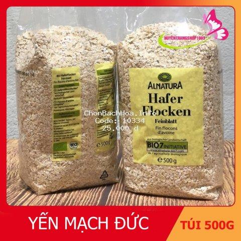 Yến mạch cán vỡ Hafer Flocken 500gr, 5 phút ăn liền