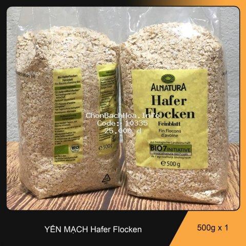 Yến mạch tươi nguyên chất Hafer Flocken 500gr của Đức