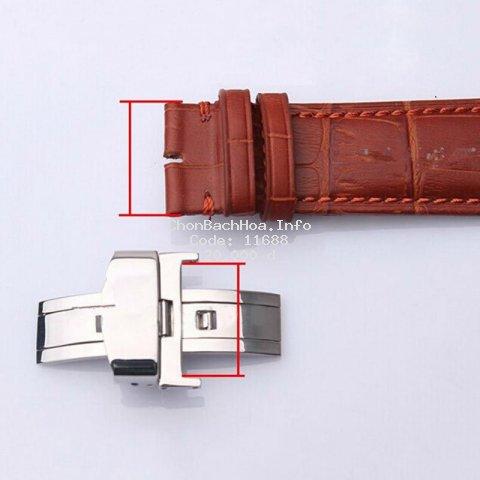 1 cái khoá thép không gỉ dùng cho dây đồng hồ đeo tay size16/18/20mm