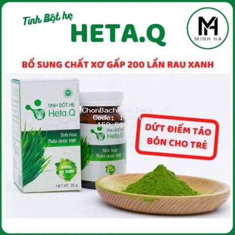 [ 100% Hết Táo Bón ] Tinh bột hẹ Heta.Q - Hỗ trợ điều trị táo bón cho bé - Hộp 30g