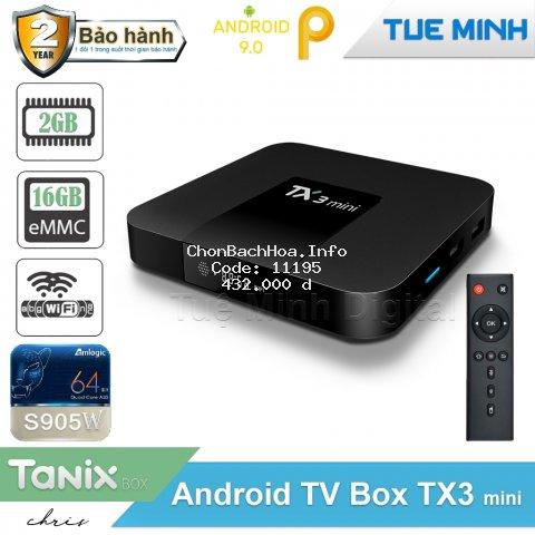 Android Tivi Box TX3 mini - 2G Ram và 16G bộ nhớ, Bluetooth, AndroidTV 9, MyK+ - BH 2 năm