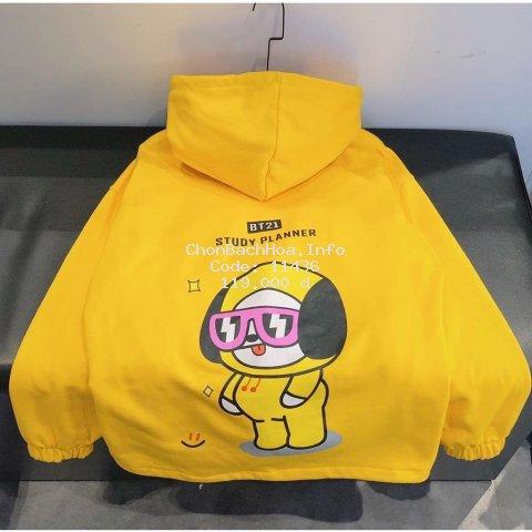 Áo Khoác hoodie nỉ ngoại BT21 form đẹp, giá rẻ