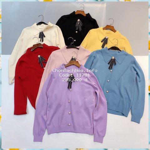 Áo len nữ chất dày, dáng rộng kiểu basic hàng đẹp cực xinh cho ce mình tha hồ diện thu đông   Tipio