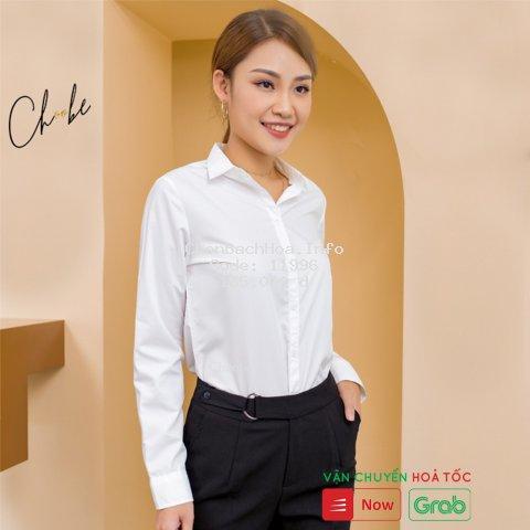 Áo sơ mi Choobe công sở, dáng suông, chất vải mềm, thoáng mát, áo sơ mi dài tay nữ đẹp, hàng cao cấp A01