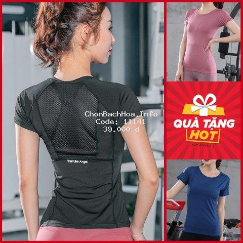 Áo tập thể thao nữ Louro FA36?CÓ ẢNH THẬT? kiểu áo tập thể dục nữ tay ngắn, chất liệu co giãn, thoáng mát