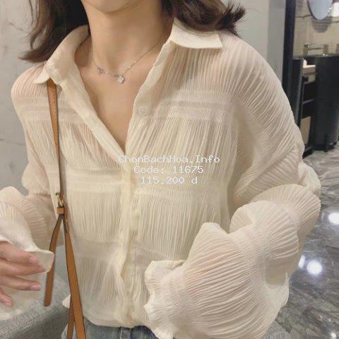Áo voan tay dài dễ phối trang phục thời trang cho nữ