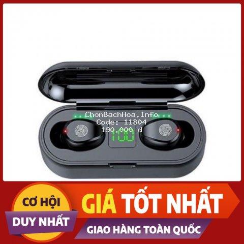 [BẢN QUỐC TẾ] Tai Nghe Bluetooth AMOI F9 | Nút Cảm Ứng Đa Điểm | Bluetooth 5.0 | Pin 280 giờ| Sạc Dự Phòng 2000mah