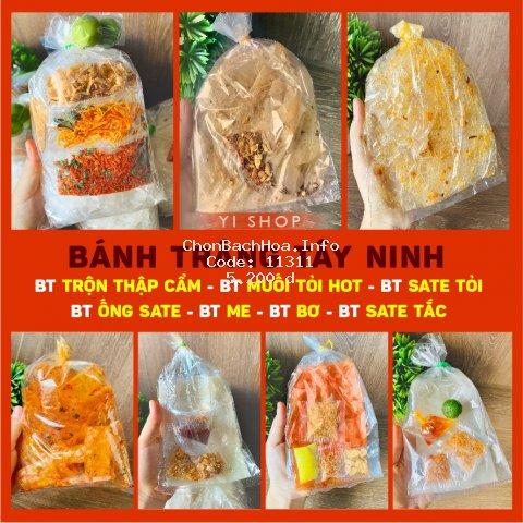 Bánh tráng Tay Ninh Satế Tỏi -Bơ -Me - Muối Nhuyễn -Trộn Thập Cẩm -Phô Mai