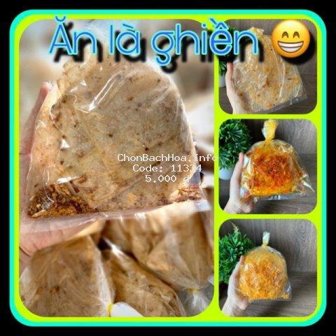 Bánh tráng trộn muối tỏi xike trộn hành phi, sate tỏi, ruốc, phomai, sate me bơ - Bánh tráng Tây Ninh