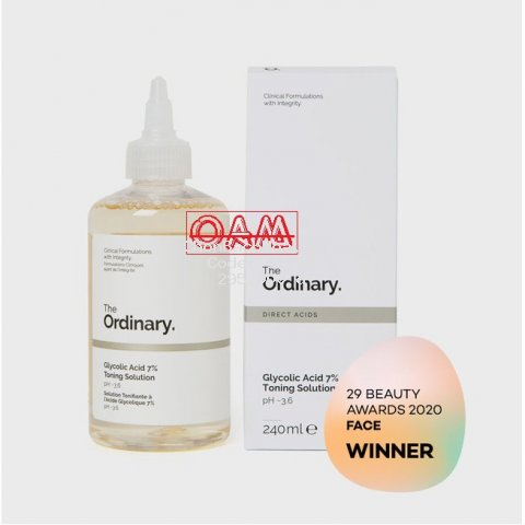 [Bill+SỈ] Toner tẩy da chết 240ml Glycolic Acid 7% Toning Solution The Ordinary