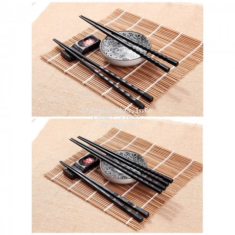 Bộ 10 đôi đũa nhựa - đũa ăn chịu nhiệt kháng khuẩn kiểu Nhật chống trơn phong cách trang nhã GD149