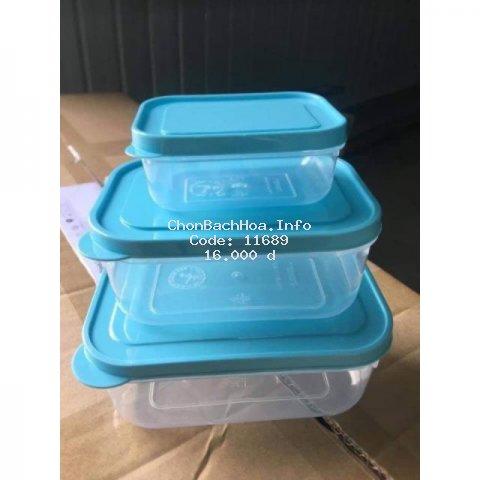 Bộ 3 Hộp Nhựa Đựng Đồ Ăn Tiện Lợi Peppi