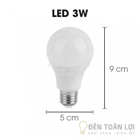 Bóng đèn LED 3W ánh sáng vàng, trắng siêu tiết kiệm điện