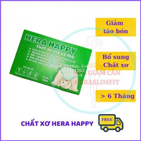 Chất Xơ HERA HAPPY CX01 - Chất xơ hòa tan - Hỗ trợ táo bón Hiệu Quả (Hộp 15 Gói)