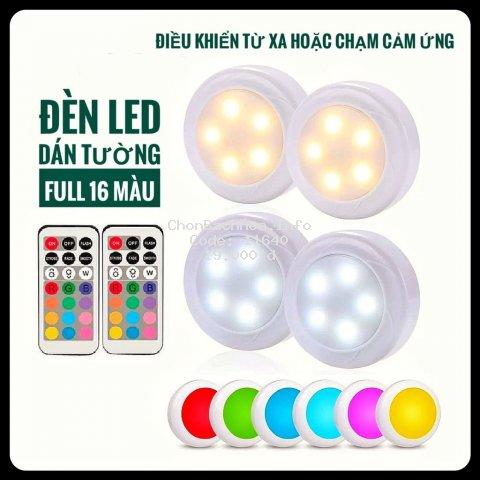 Đèn LED dán tường Điều khiển từ xa TG14 - dán tủ, kệ trưng bày, cửa hàng