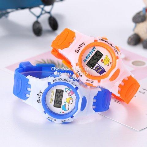 Đồng hồ đeo tay điện tử kiểu thể thao dễ thương cho bé