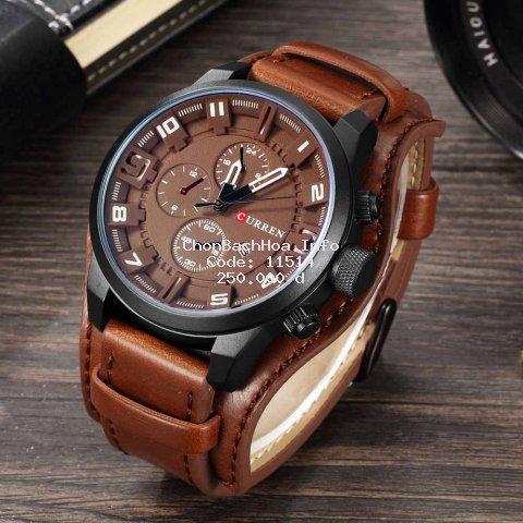 Đồng hồ nam CURREN 8225 dây da sang trọng ,đăng cấp dành cho doanh nhân Men.Watch