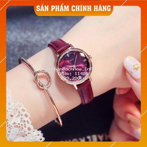 Đồng hồ nữ Kimio 0496 dây đính đá siêu xịn