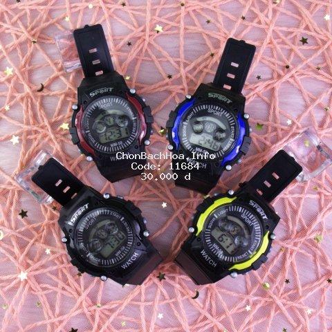 Đồng hồ thể thao điện tử nam nữ Sport đèn led nhiều màu cực đẹp, đầy đủ chức năng ( Mã: SP05 )