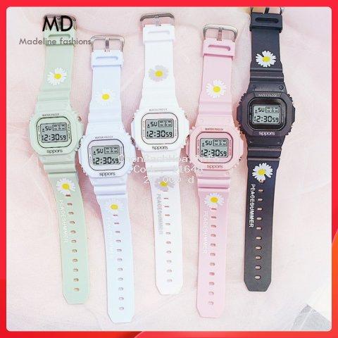 Đồng hồ thể thao nam nữ SPPORS điện tử, dây cao su Hoa Cúc cực hot, full chức năng  ( Mã: ASPHC01 )