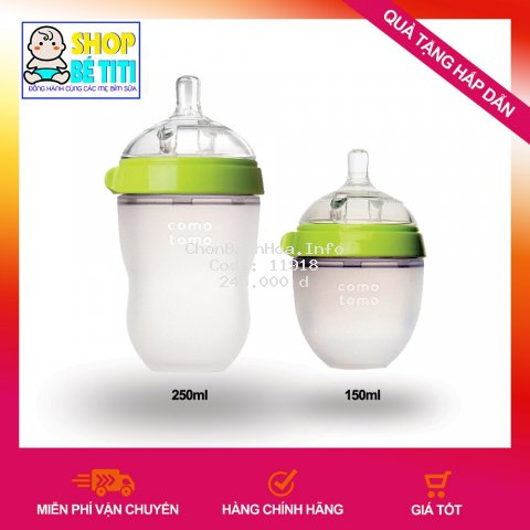 [ĐỦ SIZE] Bình Sữa Comotomo 150ML/250ML.