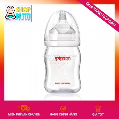 [ĐỦ SIZE] Bình Sữa Pigeon Cổ Rộng PP Plus 160ML/260ML