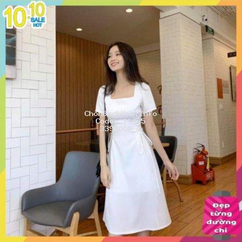 [HÀNG CAO CẤP] Váy nữ dự tiệc dạo phố phong cách tiểu thư, đầm maxi đan dây eo siêu hot