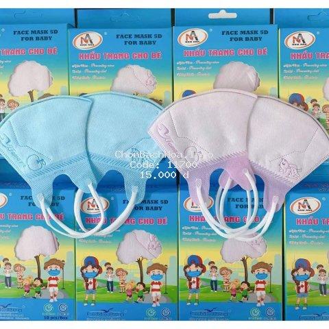 Khẩu trang cho bé Nam Anh Famapro 5D 3 lớp kháng khuẩn