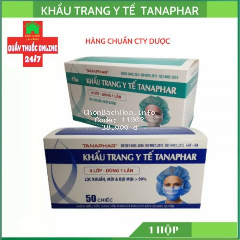 Khẩu trang y tế 4 lớp tanapha 1H/50C
