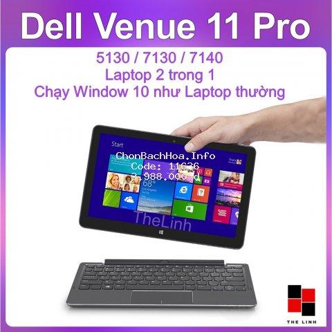 Laptop 2 trong 1 Dell Venue 11 Pro - Window 10 Màn FullHD nhiều phiên bản
