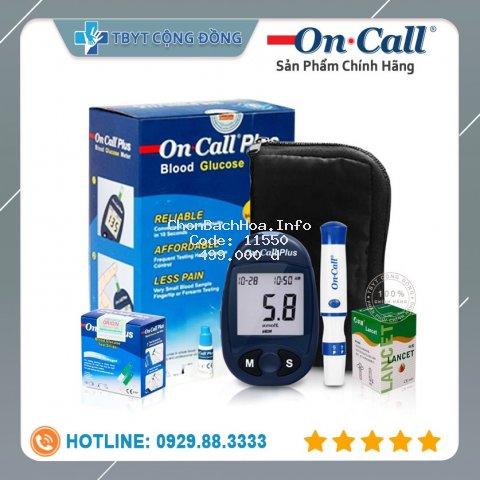 [Mã FMCGFSS11 giảm 8% đơn 250K] Máy Đo Đường Huyết Acon On Call Plus + Tặng hộp 25 que thử và hộp 50 kim chích máu