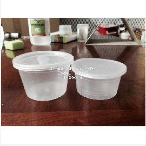 [Mã HLXU1111 hoàn 20K xu đơn 50K] Hủ nhựa làm bánh flan caramen, rau câu, sữa chua, đựng slime (hộp flan có nắp)