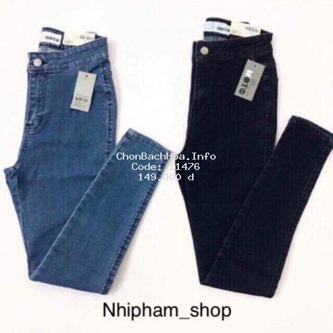 [Mã WARN30 giảm 15% đơn 150k] Quần jean nữ cạp cao co giãn form dáng ôm/đen,xám,xanh đen,xanh nhạt,xanh đậm/S,M,L
