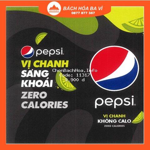 Nước Uống Có Gaz Pepsi Vị Chanh Không Calo 330ml