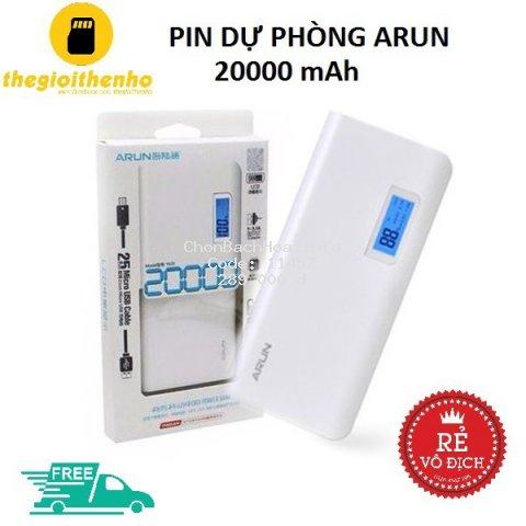 PIN DỰ PHÒNG ARUN 20000 mAh LCD - HÀNG CHÍNH HÃNG