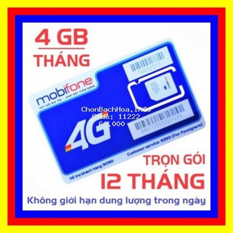 Sim 4G Mobifone trọn gói 1 năm không nạp tiền MDT250A và MDT135A