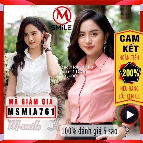sơ mi nữ trắng tay ngắn công sở, áo sơ mi nữ cộc tay áo nữ trắng hồng hàng đẹp MSA76